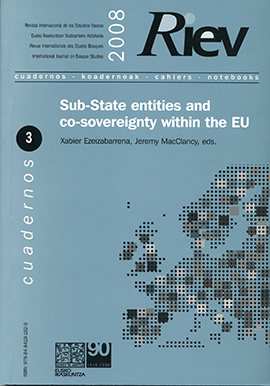 RIEV. Cuadernos, 3. Sub-State entities and co-sovereignty within the EU